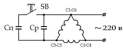 схема частотного регулятора оборотов трехфазного