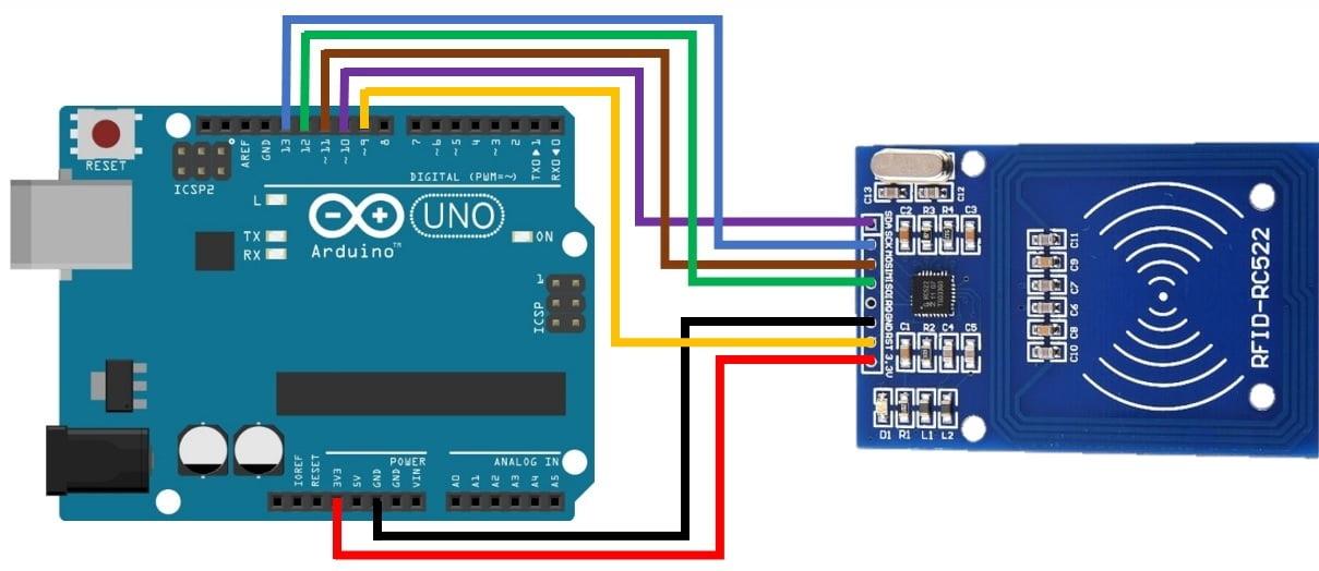 Схема подключения к Arduino